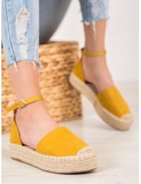 Stilingos geltonos spalvos espadrilės - LL907Y