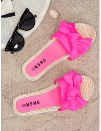 Stilingos neoninės rožinės spalvos šlepetės - WS9020ROSE