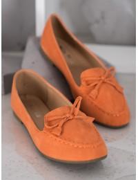 Elegantiški nuotaikingos oranžinės spalvos bateliai - 99-07A-OR