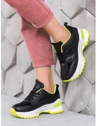 Stilingi juodos spalvos batai su platforma - H6B.B