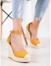 Stilingi geltonos spalvos aukštakulniai su platforma - NGSJ-1Y