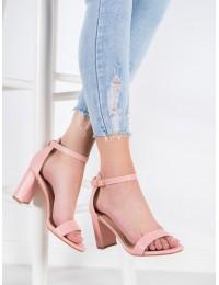 Elegantiškos rožinės spalvos aukštakulnės basutės\n - YC-150P