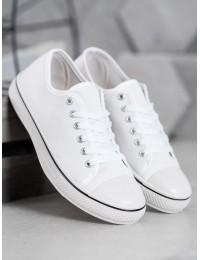 Klasikiniai baltos spalvos laisvalaikio bateliai - BLD-AW103W