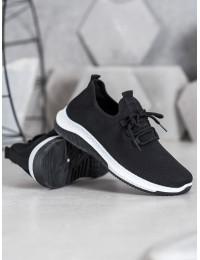 Praktiškos juodos spalvos sportinio stiliaus bateliai - J101B