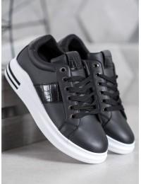 Stilingi juodos spalvos laisvalaikio stiliaus batai kasdienai - AB5746B