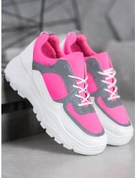 Madingi rožiniai masyvaus stiliaus batai - 902-1FU