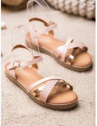 Stilingos rožinės ir aukso spalvos basutės - Y609P