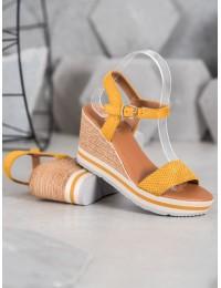 Aukštos kokybės geltonos spalvos basutės su platforma - HL71-35Y