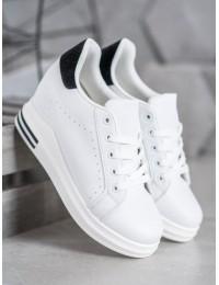 Baltos spalvos stilingi batai kasdienai - BY-0366W/B