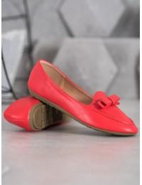 Raudoni stilingi odiniai bateliai - A8637R