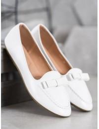 Balti stilingi odiniai bateliai - A8637W