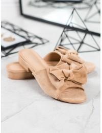 Elegantiškos smėlio spalvos šlepetės - Y006BE