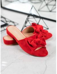 Elegantiškos raudonos spalvos šlepetės - Y006R