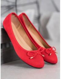 Elegantiški klasikinio stiliaus raudoni bateliai - 9F115R
