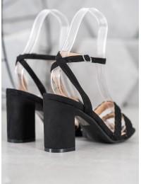 Elegantiškos juodos spalvos aukštakulnės basutės - K2012501NE