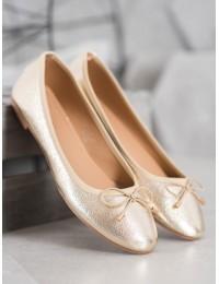 Aukso spalvos elegantiškos balerinos - LK31GO