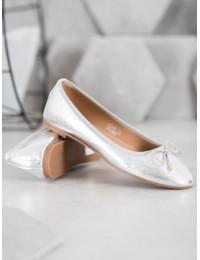 Elegantiškos sidabro spalvos balerinos - LK31S