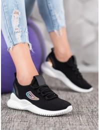 Stilingi aukštos kokybės laisvalaikio stiliaus juodi batai\n - ANN20-14444B