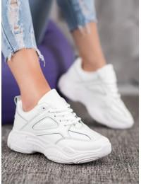 Klasikinio laisvalaikio stiliaus balti batai - ANN20-14433W