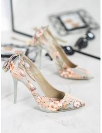 Aukštos kokybės stilingi aukštakulniai su gėlėmis - LE073GR