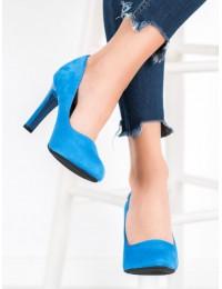 Elegantiški klasikinio stiliaus mėlyni aukštakulniai - S9101B.BL