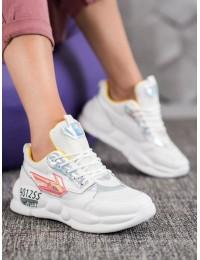 Stilingi baltos spalvos batai - FASHION  - BO-253Y