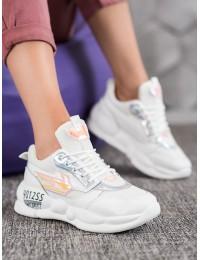 Stilingi baltos spalvos batai - FASHION  - BO-253W
