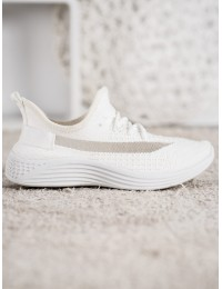 Baltos spalvos laisvalaikio stiliaus bateliai - ANH20-13530W