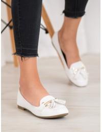 Baltos spalvos stilingi mokasinai - 99-08A-W