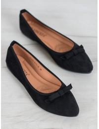 Elegantiški juodos spalvos zomšiniai bateliai - OCA20-2173B