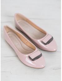 Aukštos kokybės pastelinės rožinės spalvos stilingi bateliai - BOB20-18015P