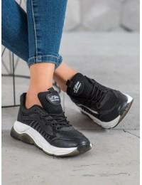 Madingi sportinio stiliaus juodi batai - ZK077NE
