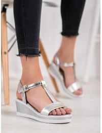 Elegantiškos stilingos švelnios sidabro spalvos basutės - 88-44S