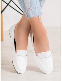 Elegantiški baltos spalvos mokasinai - 98-29W