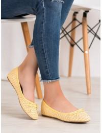 Elegantiški geltonos spalvos bateliai - X561Y