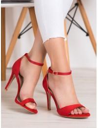 Elegantiškos raudonos stilingos aukštakulnės basutės - P7L7148-16R