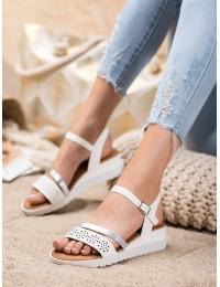 Klasikinio stiliaus elegantiškos baltos spalvos patogios basutės\n - RD048W