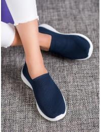 Tamsiai mėlyni SLIP ON stiliaus patogūs stilingi bateliai - 1025N