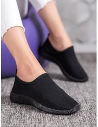 Juodos spalvos SLIP ON stiliaus patogūs stilingi bateliai - 1025B/B