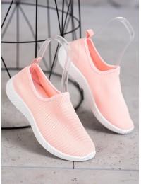 Švelnios rožinės spalvos SLIP ON stiliaus patogūs stilingi bateliai - 1025P