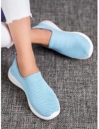 Švelnios mėlynos spalvos SLIP ON stiliaus patogūs stilingi bateliai - 1025BL