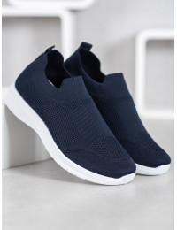 Tamsiai mėlynos spalvos SLIP ON stiliaus patogūs aukštos kokybės bateliai - BB71N