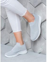Šviesiai pilkos spalvos SLIP ON stiliaus patogūs aukštos kokybės bateliai - BB71G