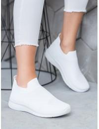 Baltos spalvos SLIP ON stiliaus patogūs aukštos kokybės bateliai - BB71W