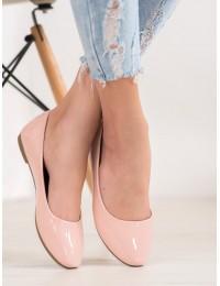 Lakuotos odos elegantiški rožinės spalvos bateliai - SBHX-2P