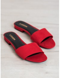 Madingos minimalistinio stiliaus raudonos šlepetės - GD-KW-16R