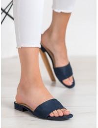 Madingos minimalistinio stiliaus tamsiai mėlynos šlepetės - GD-KW-16N