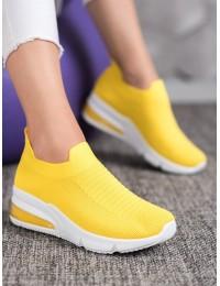 Ryškios geltonos spalvos laisvalaikio stiliaus bateliai - AB677Y