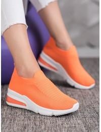 Ryškios oranžinės spalvos laisvalaikio stiliaus bateliai - AB677OR