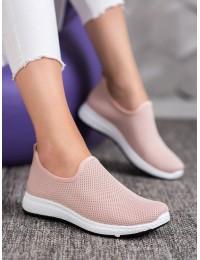 Pastelinės rožinės spalvos stilingi bateliai - AB665P